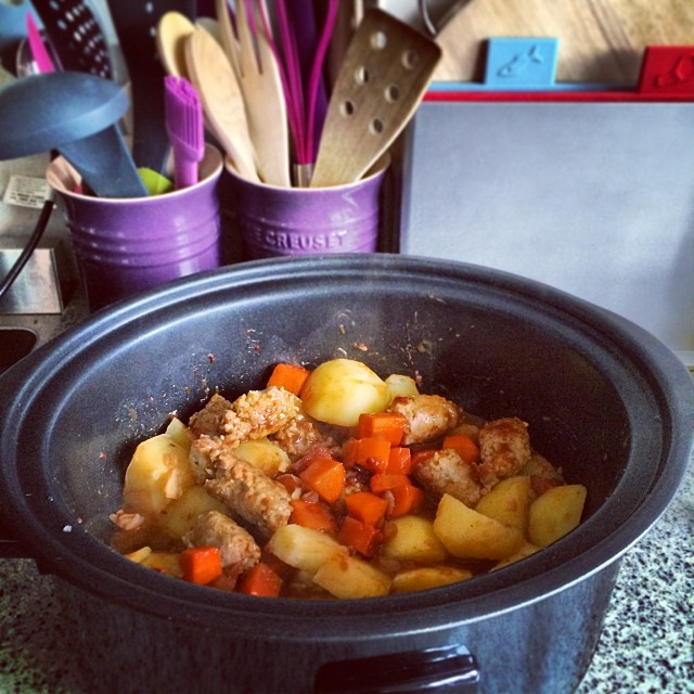 Sausage casserole, before cooking
