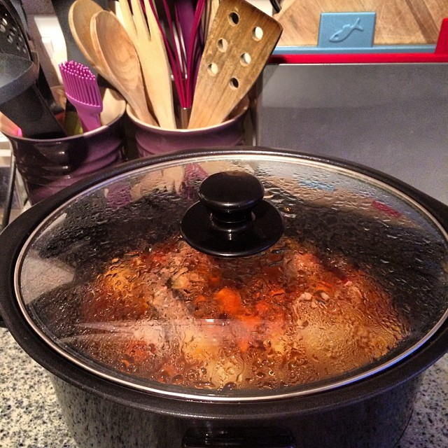 Sausage Casserole, During Cooking