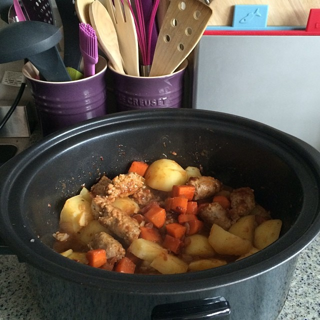 Sausage Casserole, About to be Served