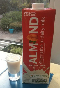 tesco almond unsweetened