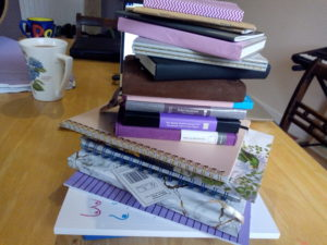 A pile of notebooks