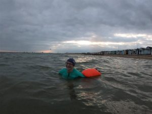 Me in the sea, looking really pleased with myself